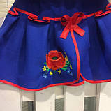 Синий  костюм с  вышивкой гладью  от 1  до  10  лет (1-2 года), фото 9