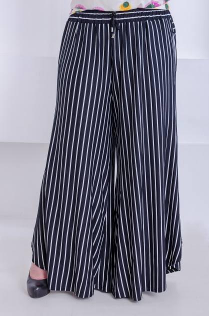 Женские брюки размера плюс Наргиз полоса (58-68)