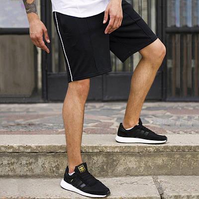 Шорты черные мужские с полоской СиДжей (CJ) от бренда ТУР размер XS, S, M, L, XL