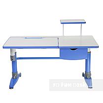 Комплект подростковая парта для школы Ballare Blue + ортопедическое кресло Primo Blue FunDesk, фото 3