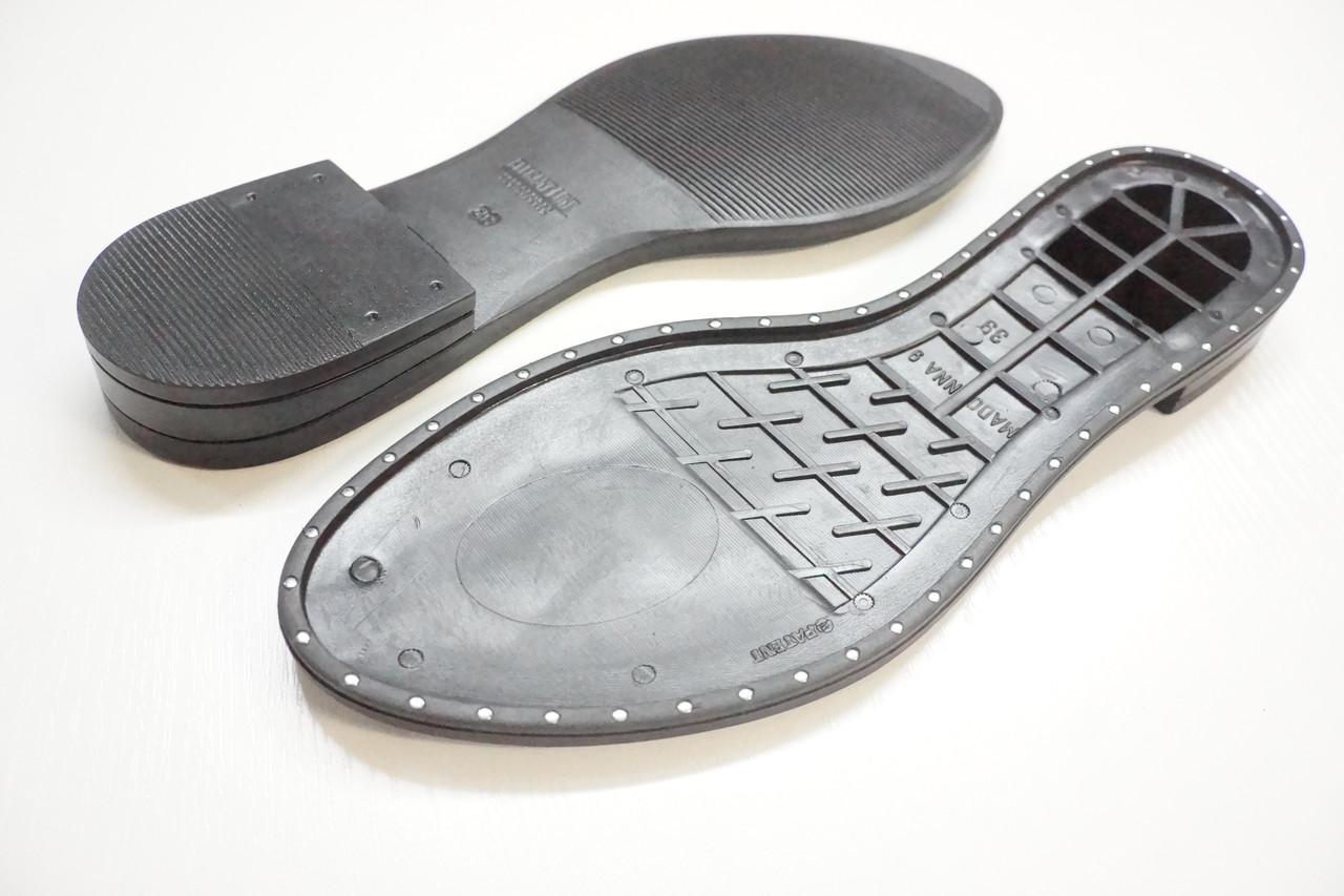 Подошва для обуви Мадонна-9 с гвоздиками черная р. 38-39