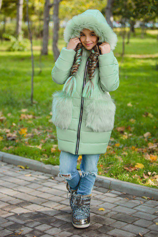 Куртка LiLove 315-4 152 ментоловый