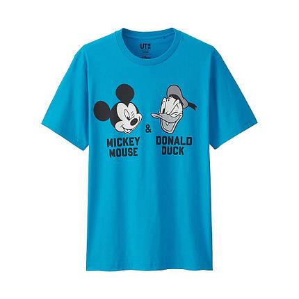 Футболка Uniqlo Men Disney Project Mickey+Donald BLUE, фото 2