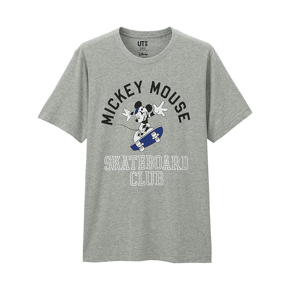 Футболка Uniqlo Men Disney Project Mickey SkateClub GREY