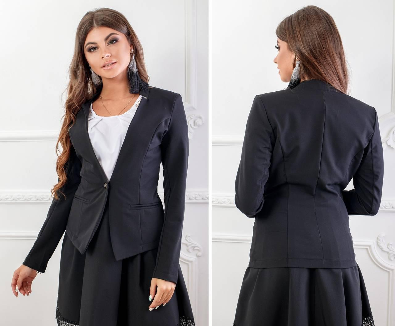 Жакет (пиджак) арт.119 черный