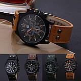 Стильные мужские часы коричневые, фото 4