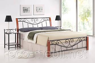 Двоспальне металеве ліжко Parma 160 czereśnia antyczna Signal