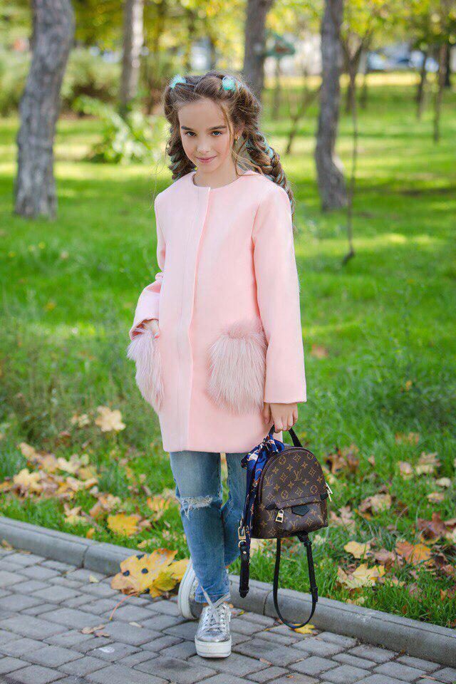 Пальто LiLove 303 140 розовый