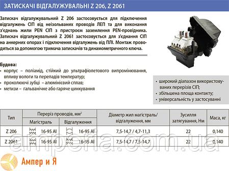 Зажим прокалывающий Z 2061 (16-120/16-120) ЛИЗО, фото 2