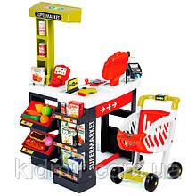 Інтерактивний Супермаркет з візком червоно - зелений Smoby 350210