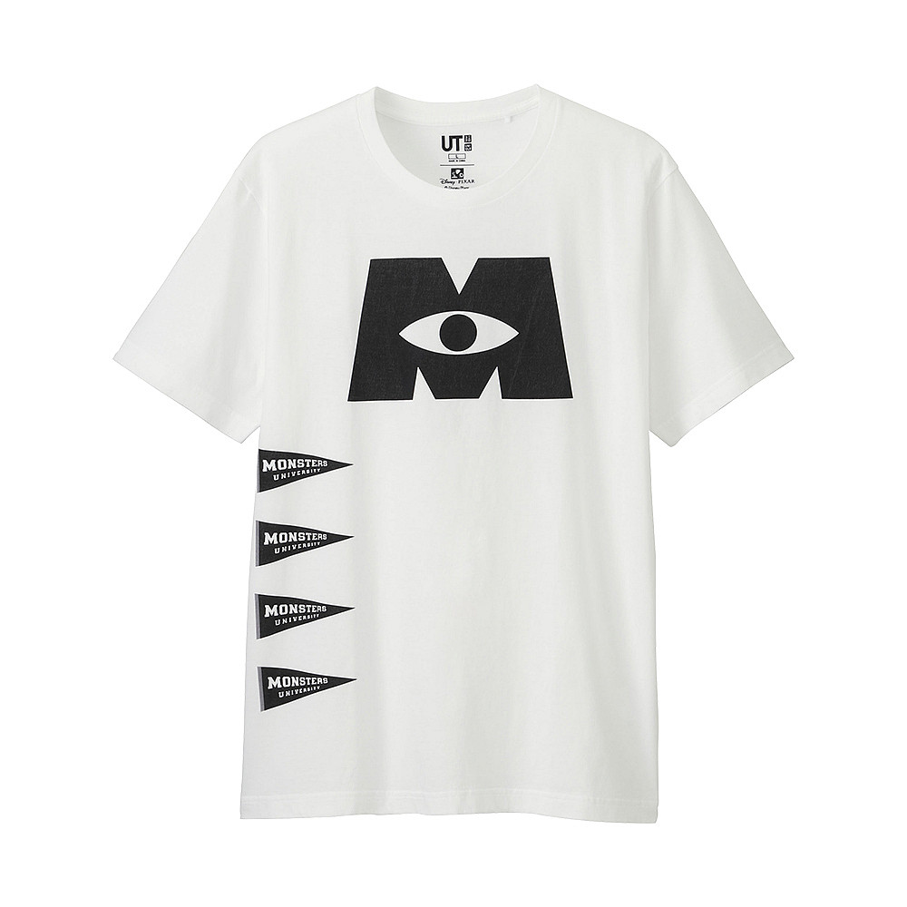 Футболка Uniqlo Men Pixar Monsters Univ WHITE
