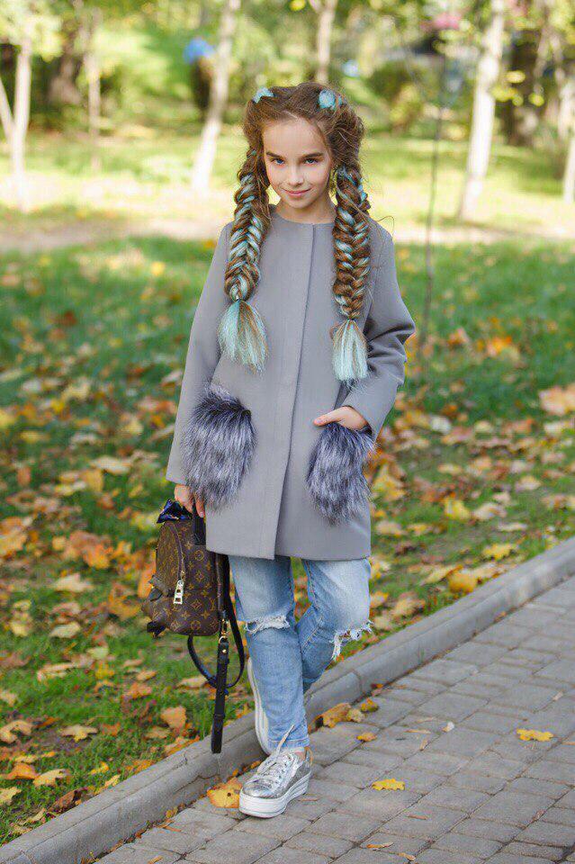 Пальто LiLove 303-3 146 серый