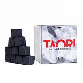 Уголь для кальяна кокосовый TAORI 1 кг в упаковке(64 кубика)