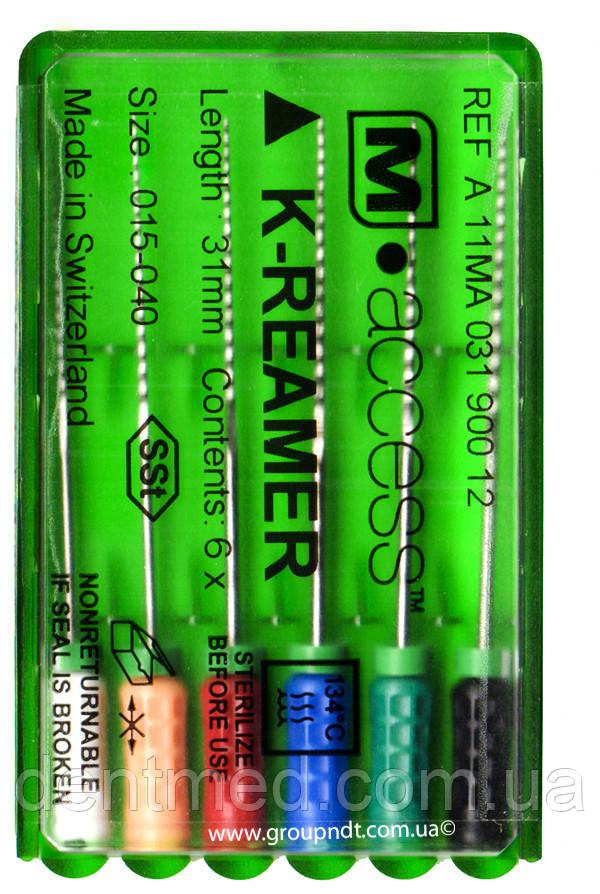 K-reamer M-access (25мм.) корневые буравы ручные 6 шт 15, 25 NaviStom