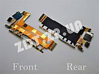 Шлейф с компонентами Sony Z3 3G (кнопки включения, громкости, камеры, вибро, микрофон) (7300100)
