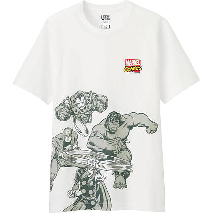 Футболка Uniqlo Men Marvel Graph 2 WHITE, фото 2