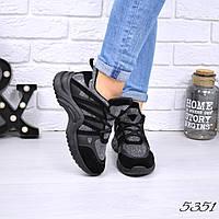 Кроссовки женские LV черный 5351, спортивная обувь, фото 1