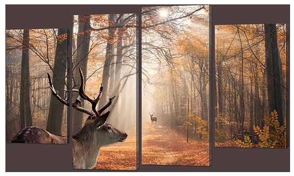 Модульная картина Лесной олень
