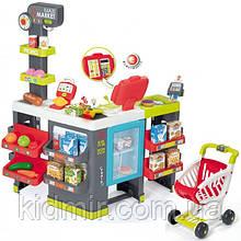 Супермаркет с тележкой интерактивный Maxi Market Smoby 350215