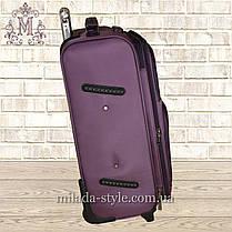 Чемодан большой L 2 колеса(фиолетовый), фото 3