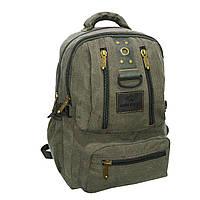 Рюкзак GOLDBE 30х43х16 брезент хаки  кс1304хб