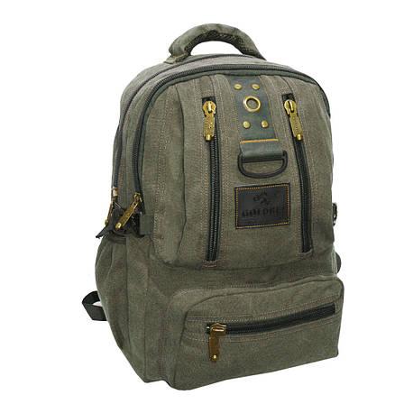 Рюкзак GOLDBE 30х43х16 брезент хаки  кс1304хб, фото 2
