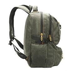 Рюкзак GOLDBE 30х43х16 брезент хаки  кс1304хб, фото 3