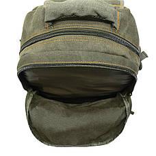 Рюкзак GOLDBE 30х43х16 брезент хаки  кс1304хб , фото 3