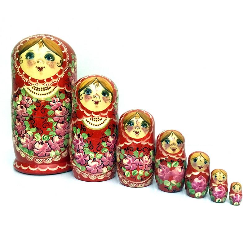 Матрешка сувенир Цветы