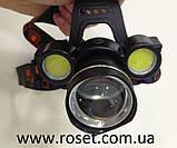 Налобный фонарик BL 878 T6+COB, фото 3