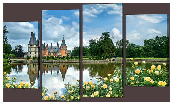 Модульная картина Замок у озера