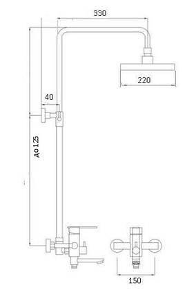 Душевая система GLOBUS LUX STYLE DS0026, фото 2