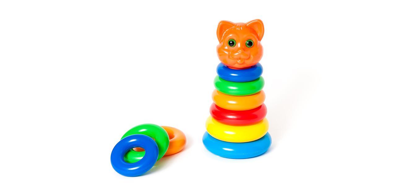 """Іграшка розвиваюча пірамідка, кішка, 573 """"Оріон"""""""