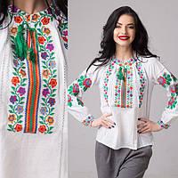 Подростковая блуза с вышивкой Радуга