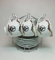 """Чайный сервиз 12-ти предметный   """"Охота"""" (6 чашек +6 блюдец)"""