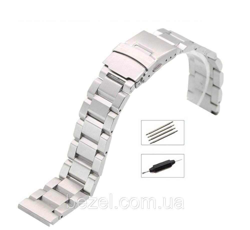 Браслет из нержавеющей стали для наручных часов, литые звенья 20 мм