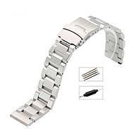 Браслет из нержавеющей стали для наручных часов, литые звенья 20 мм, фото 1