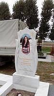 Мраморный памятник с овальной керамикой №4