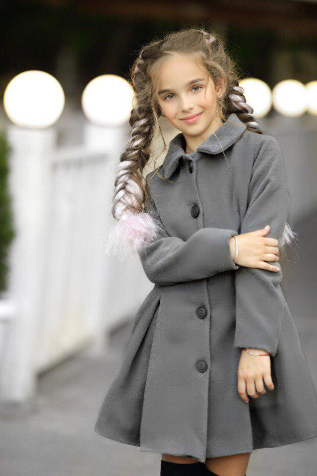 Пальто LiLove 295-1 134 серый