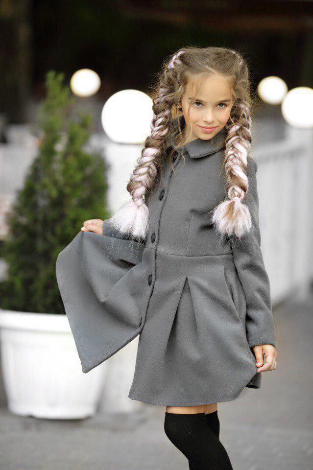 Пальто LiLove 295-1 146 серый
