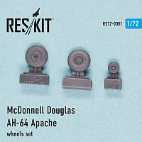 McDonnell Douglas AH-64 Apache wheels set 1/72 RES/KIT 72-0081
