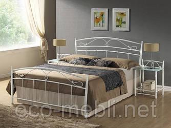 Півтораспальне металеве ліжко Siena 140 Signal