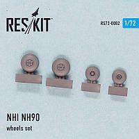 NHI NH90 wheels set 1/72 RES/KIT 72-0082