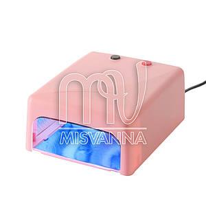 УФ лампа 818 Mini Lilly Beaute на 36 Вт с таймером 120с. для сушки геля и гель-лака (pink)