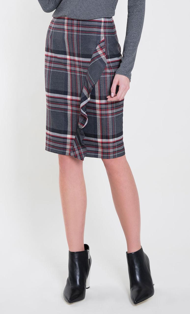 Женская юбка-карандаш цвета графит. Модель Lurdes Zaps