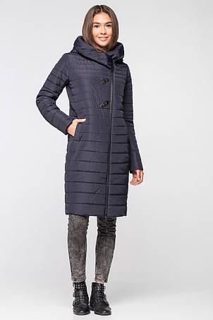 Женская демисезонная куртка MT-187 темно-синяя (#SIN16), фото 2