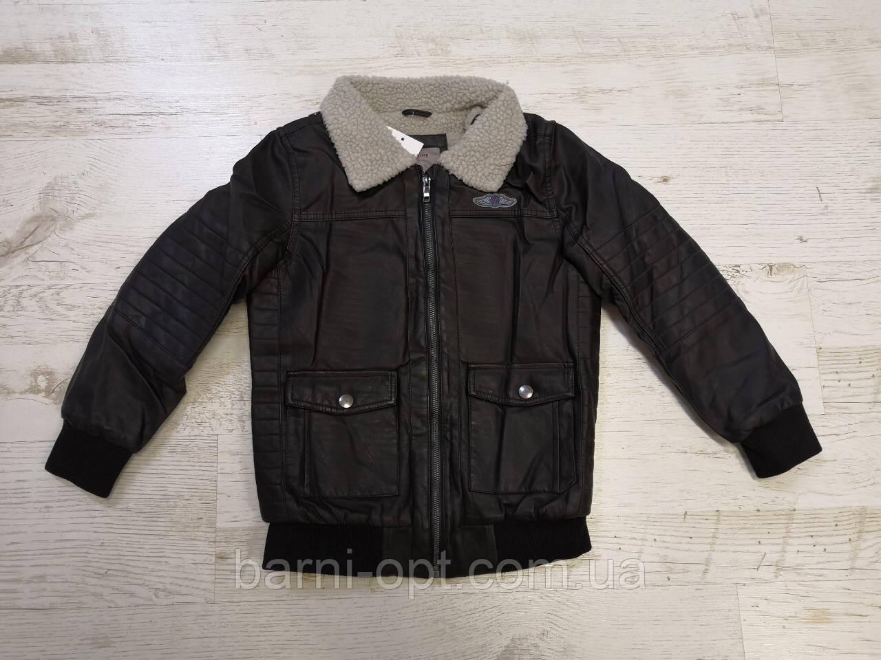 Куртки кожзам на мальчика на меху, Glo-story, 92/98-128  рр