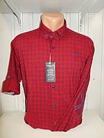 Рубашка мужская YG  длинный-короткий рукав, заклепки, налокотники, мелкий узор №01,08,04 001\ купить рубашку