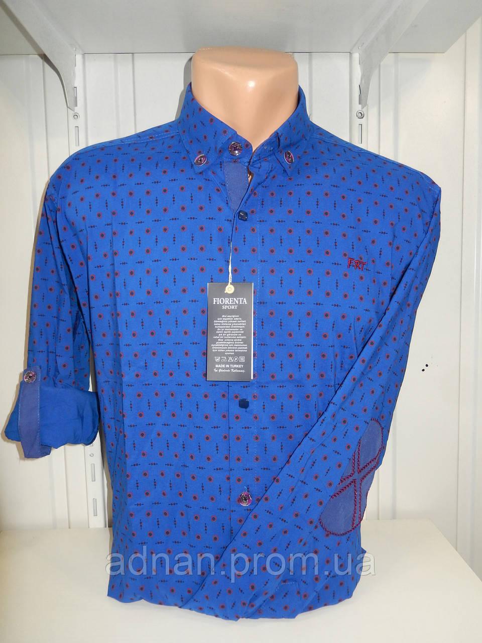 Рубашка мужская YG  длинный-короткий рукав, заклепки, налокотники, мелкий узор №01,08,04 002\ купить рубашку
