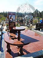 Памятник с фото на керамике № 6